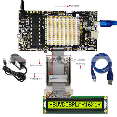 8051 Microcontroller Development Board Programmer For 3.3v 16x1 Character Lcd