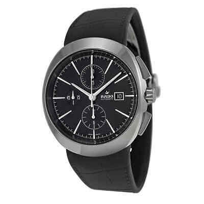 Rado D-Star Automatic Black Dial Black Leather Men's Watch R15556155