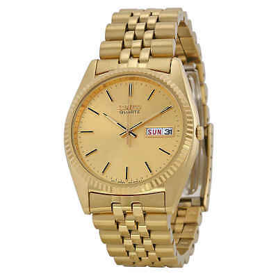 Seiko Day and Date Dress Gold Dial Men's Watch SGF206