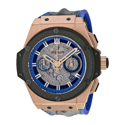 Hublot King Power Unico Gold Skeleton Sapphire Dial Automatic Mens Watch