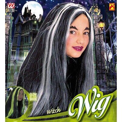 LEUCHTENDE HEXEN PERÜCKE # Halloween Karneval Mädchen Kinder Kostüm Party 6279
