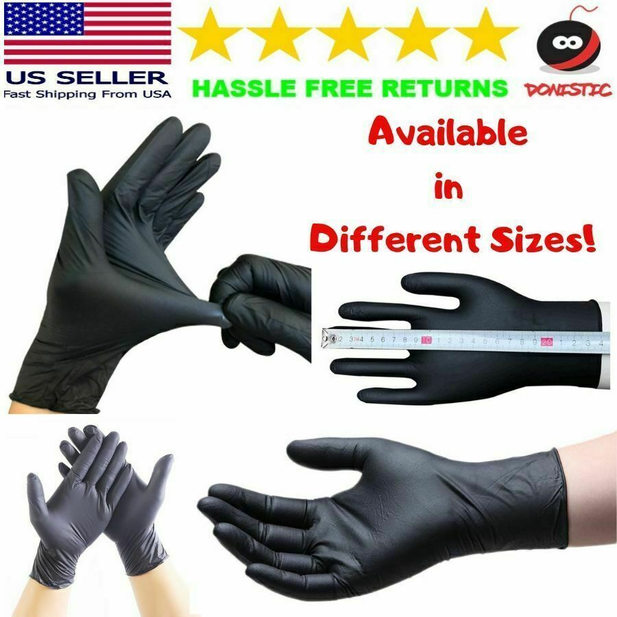 20x40x 60 x Black PVC & Latexfree Gloves Nitrile Piercing Ta