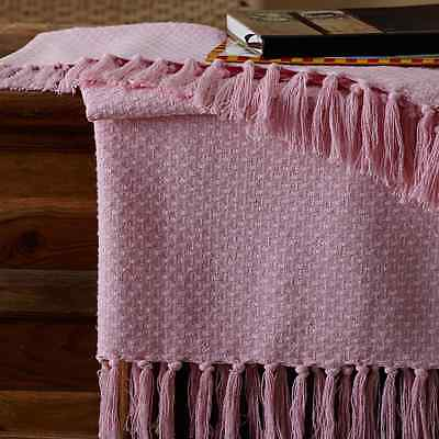 BABY WOVEN THROW BLANKET PINK 36X48