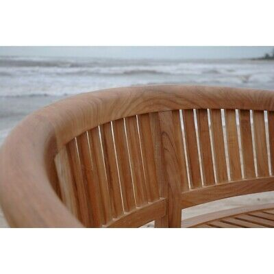 Anderson Teak Curve 3 Seater Bench Extra Thick Wood - BH-005CT Bench Extra Thick Wood
