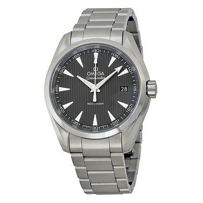 Omega Seamaster Aqua Terra Grey Dial Stainless Steel Mens Watch