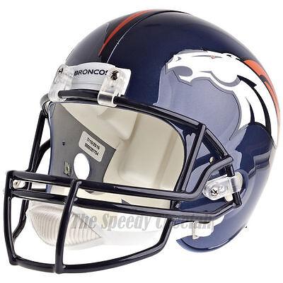 DENVER BRONCOS RIDDELL VSR4 NFL FULL SIZE REPLICA FOOTBALL HELMET