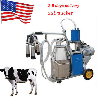 Usa Electric Milking Machine Milker Cows Bucket 25l Stainless Steel Bucket Farm