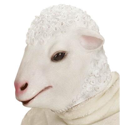 Karneval Schafmaske Schäfchen Lamm Kostüm Party Deko 96631 (Maske Schafe)