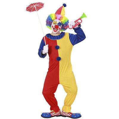 KINDER CLOWN KOSTÜM # Karneval Fasching Jungen Zirkus Overall Clownkostüm 0257 ()