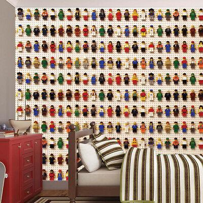 Lego Block Dolls Wallpaper Wall Mural Photo Children Kids Bedroom Playroom