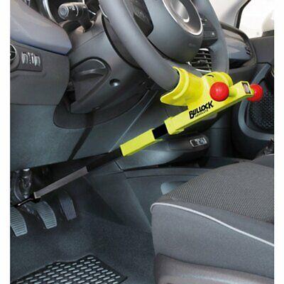 MEETOZ Universale Di Sicurezza Antifurto Retrattile Heavy Duty Auto Blocco Volante Con 2 Tasti Giallo
