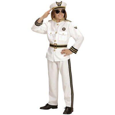 KINDER KAPITÄN KOSTÜM & MÜTZE # Karneval Jungen Marine Offizier Matrose Seemann