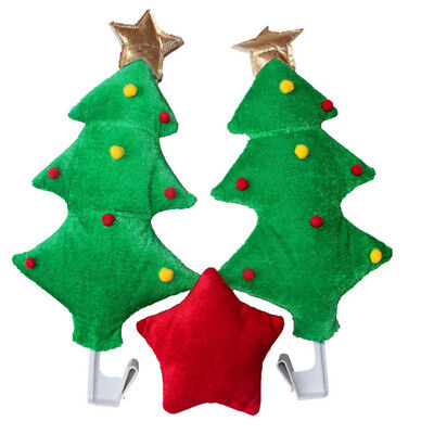 Cute Christmas Tree&Red Star Style Funny Decoration For Car Christmas Decor Gift