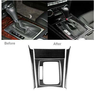 Carbon Fiber Gear Shift Panel Trim Set For Mercedes-Benz C Class W204 2007-2013