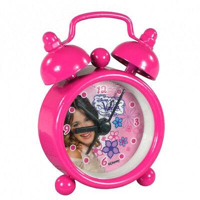 Disney Violetta Kinder mini Wecker Tischuhr Uhr Kinderuhr pink