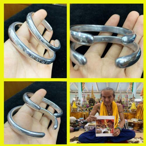 Thai Amulet Charming Couple Bracelets Write Yant Gamble Rich Wealth BY Aj Kom