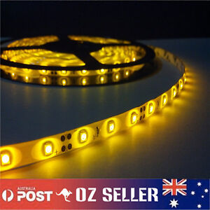 Waterproof-Flexible-12V5M-3528-300SMD-Amber-LED-Strip-Light-DRL-Car-Boat-Camping