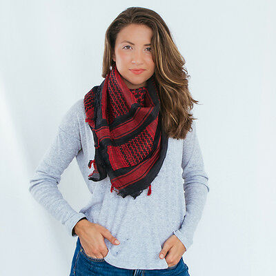 """Rebel Tactical Shemagh Tactical Military Scarf 42""""x42"""" Normal Weight (Red)"""