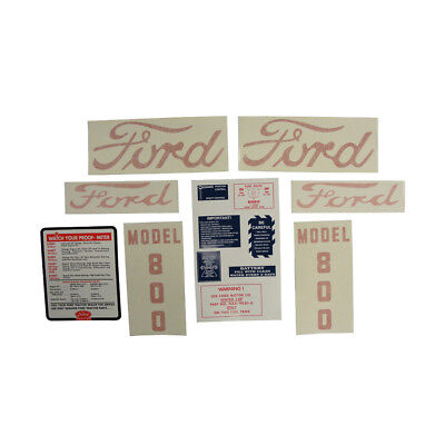 D-8005557 Decal Set With Instructions Ford 800 Tractor 1955 - 1957