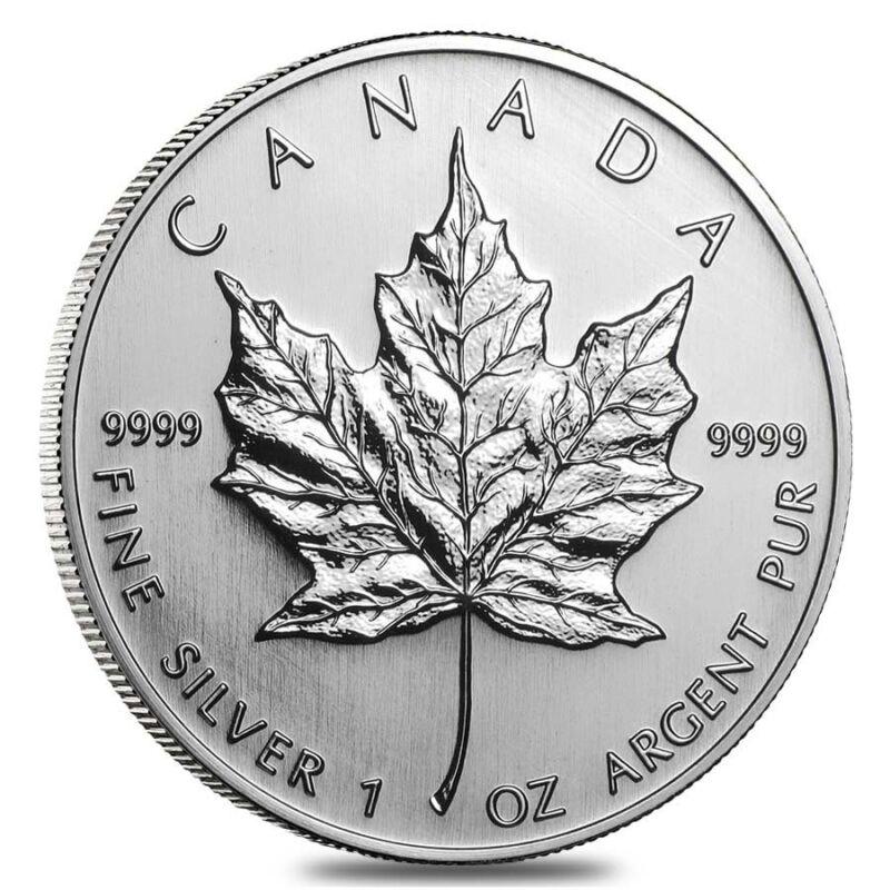 2005 1 oz Silver Canadian Maple Leaf .9999 Fine $5 Coin BU (Sealed)