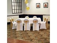 50 X White Wedding Chair Covers For Sale - Ex Stock