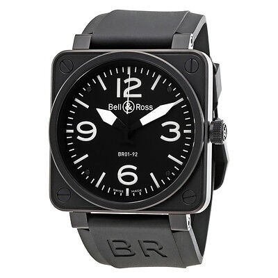 Bell and Ross Black Dial Stainless Steel Mens Watch BR0192-BL-CA