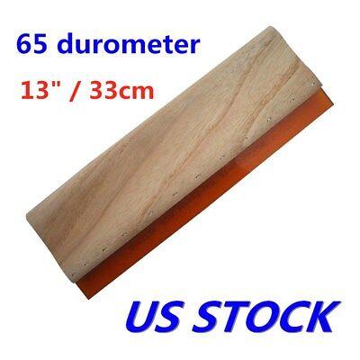 Us Stock 13 Silk Screen Printing Squeegee Scraper Waterbase 65 Durometer