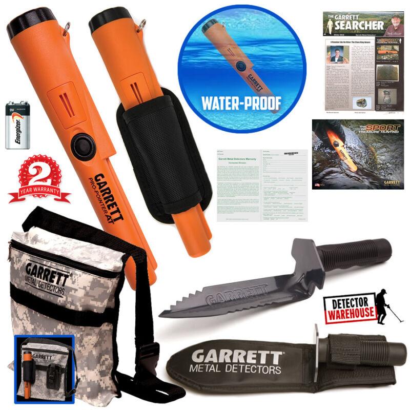 Garrett ProPointer ATPinpointer Waterproof Metal Detector + Digger + Camo Pouch