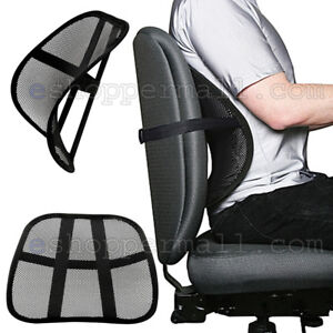 Attirant Cool Vent Cushion Mesh Back Lumbar Support New Car Office Chair Truck Seat  Black