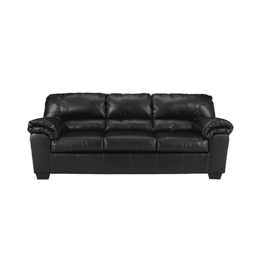Incroyable Flash Furniture Signature Design By Ashley Commando Black Leather Sofa |  EBay