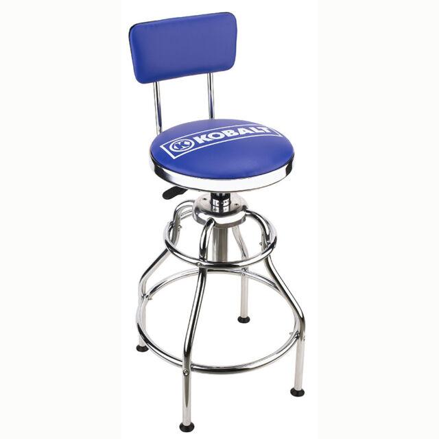 New Kobalt Adjustable Hydraulic Stool Garage Seat Chair Shop Mechanic  Durable