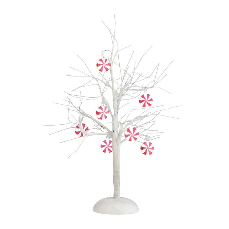 Dept 56 PEPPERMINT LIT BARE BRANCH TREE 4025369 D56 NEW Christmas Village