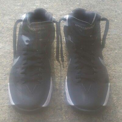0f217c0de61f NIKE ZOOM HYPER QUICKNESS TB Men Basketball Shoes 599420 Black White Size 9