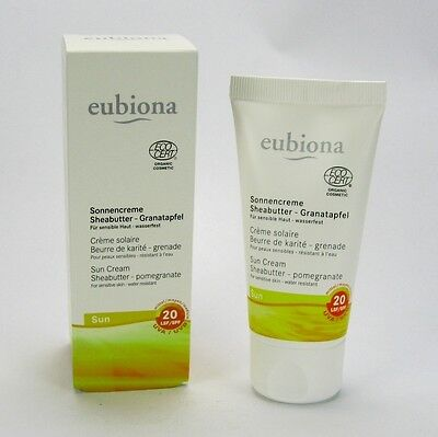 (18,60/100ml) Eubiona Sonnencreme LSF 20 Granatapfel wasserfest 50 ml