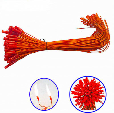 100pcs/lot11.8in Electric Igniters E-match+Fireworks Firing System 0.45mm copper