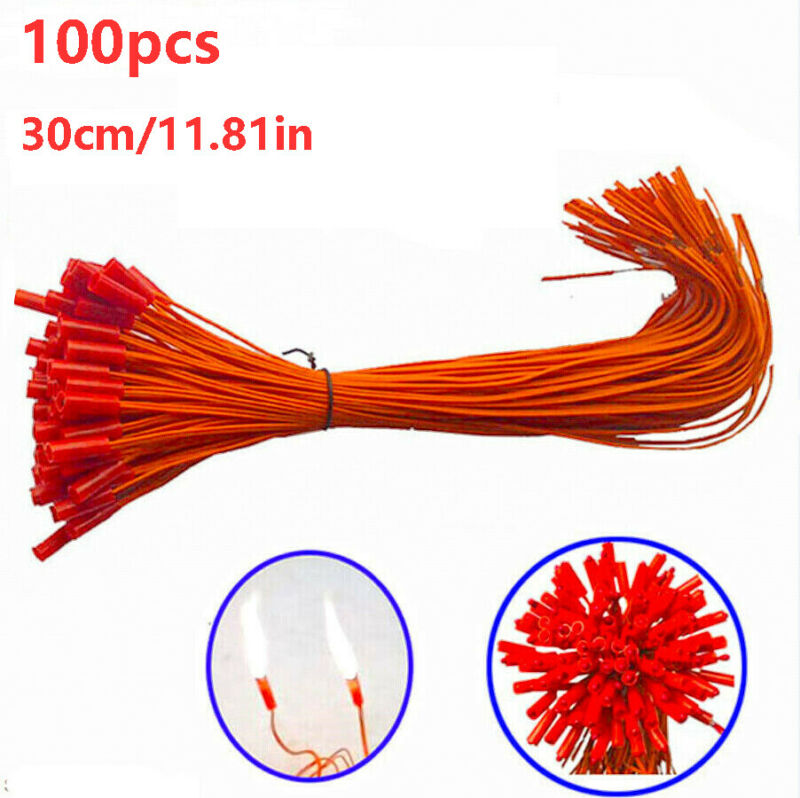 100pcs 11.81in  Electric Wire Match Igniter for Fireworks Remote Control System