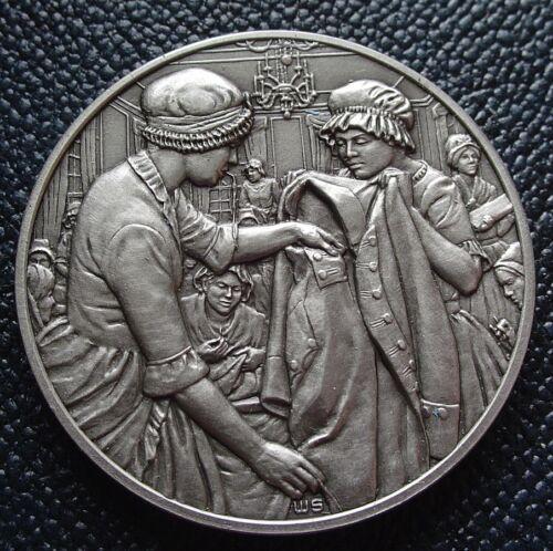 DAR Medal - ELIZABETH CAIRNES POE. Great Women of the American Revolution.