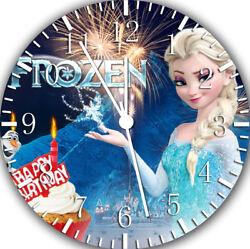 Frozen Kid Birthday Frameless Borderless Wall Clock Nice For Gifts or Decor E388