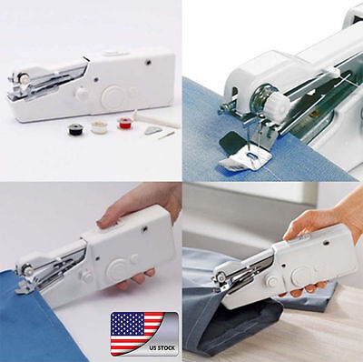 Mini Portable Cordless Electric Handheld Sewing Machine Handy Household Stitch