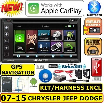 CHRYSLER JEEP DODGE GPS NAVIGATION SYSTEM BLUETOOTH/USB/EQ CAR RADIO STEREO PKG (Jeep Cherokee Stereo System)