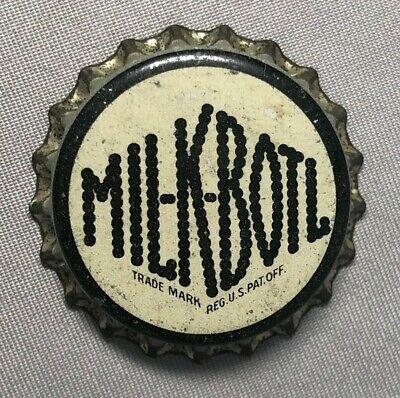 MIL-K-BOTL Milk Bottle Soda CORK CROWN Cap Vintage Advertising