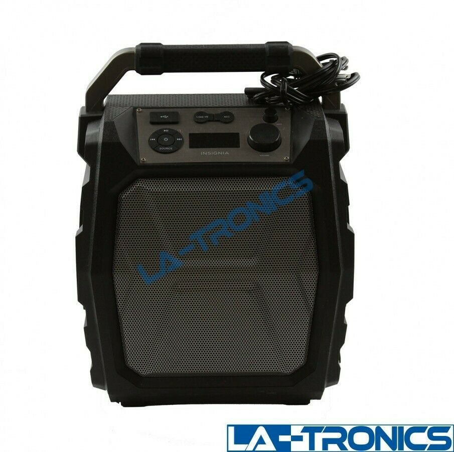 "Insignia 6-1/2"" Powered Bluetooth Wireless 2-Way Party Speaker"