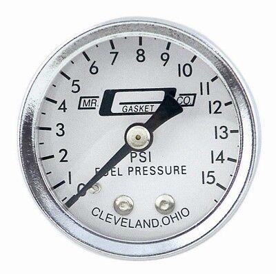 Mr. Gasket 1561 Fuel Pressure 0 to 15 PSI 1-1/2