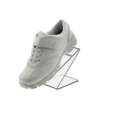 - White Slant Back Acrylic Shoe Riser 3