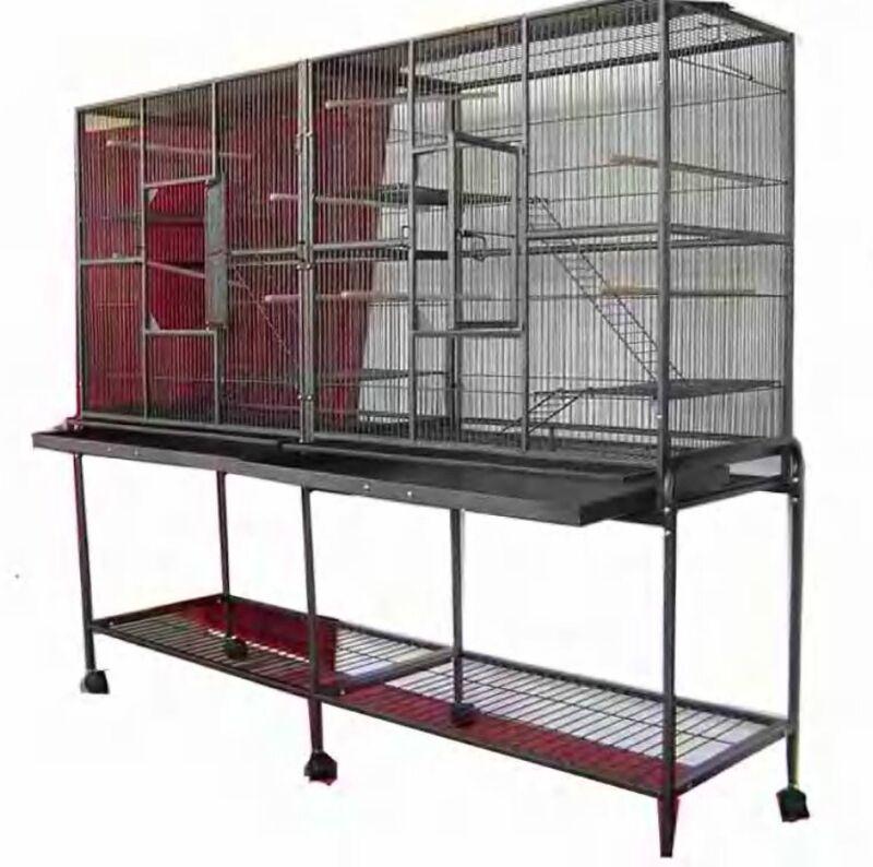 LARGE Double Small Animal Ferret Sugar Glider Chinchilla Ferret Rat Cage V-641