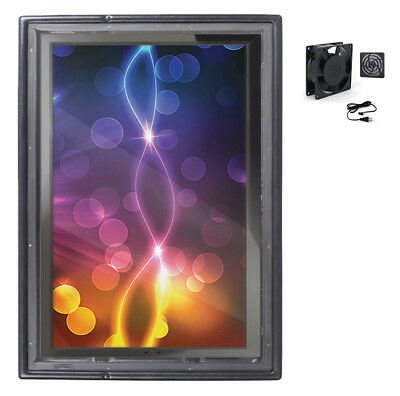 The Display Shield 30-40 Vertical Outdoor Display Enclosure With Fan
