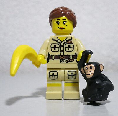 Zookeeper Series 5 Banana Monkey Female Girl Lego Minifigure Mini -