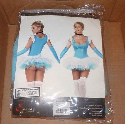 NEW ESPIRAL Lingererie Blue Fantasy Princess Women Ladies Costume M Medium NWT