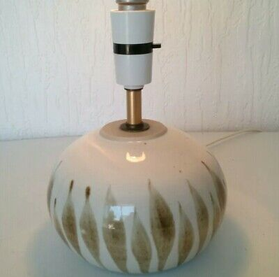 Vintage Ceramic Mid Century Lamp Base Fully Working