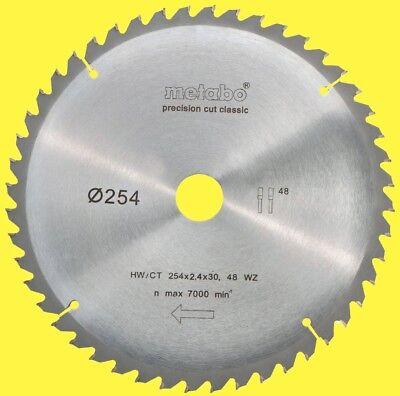 METABO Kreissägeblatt HW/CT 254 x 2,4 x 30      48 WZ für KGS 254 M Sägeblatt